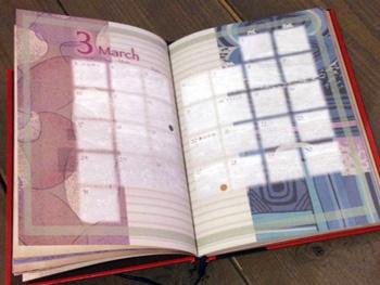 美しいノート「lleno」さんのスケジュール帳